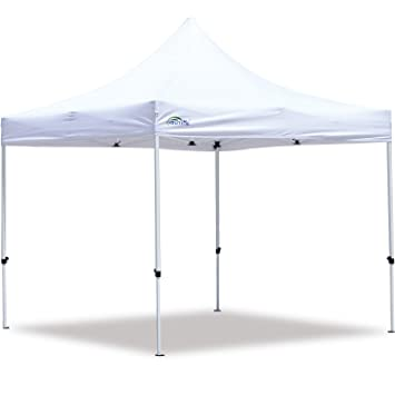 the best attitude e5444 84bfa Goutime 10x10 Commercial Grade Pop Up Canopy Tents for Parties Trades  Shows, Waterproof Ez Up Canopy with Wheeled Bag, White