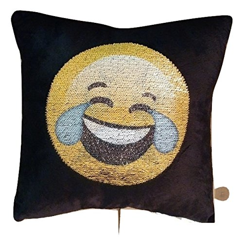 Square Emoji Throw Pillow Swipe Up Tears of Joy Swipe Down Sad Face!