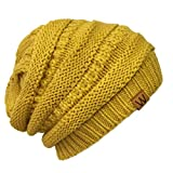 Wrapables Slouchy Winter Beanie Cap Hat, Yellow