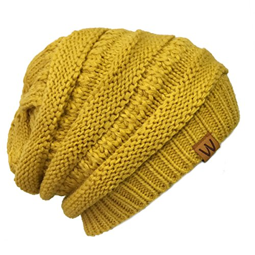 wrapables-slouchy-winter-beanie-cap-hat-yellow