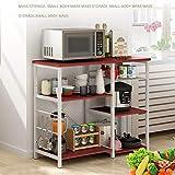 Landfox Multifunctional Kitchen Rack Microwave Oven Floor Shelf Storage Storage Cupboard