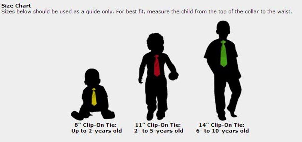 Boy's Solid Color Pre-tied Clip On Neck Tie
