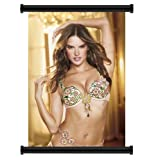 """Alessandra Ambrosio Sexy Model Fabric Wall Scroll Poster (31"""" x 46"""") Inches"""