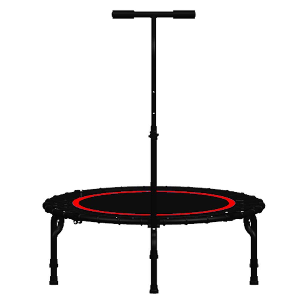 LKFSNGB Home Fitness Trampoline - 40'' Sports Trampoline with Safety Handrails Adult Adult Indoor Bouncing Bed Portable and Foldable by LKFSNGB