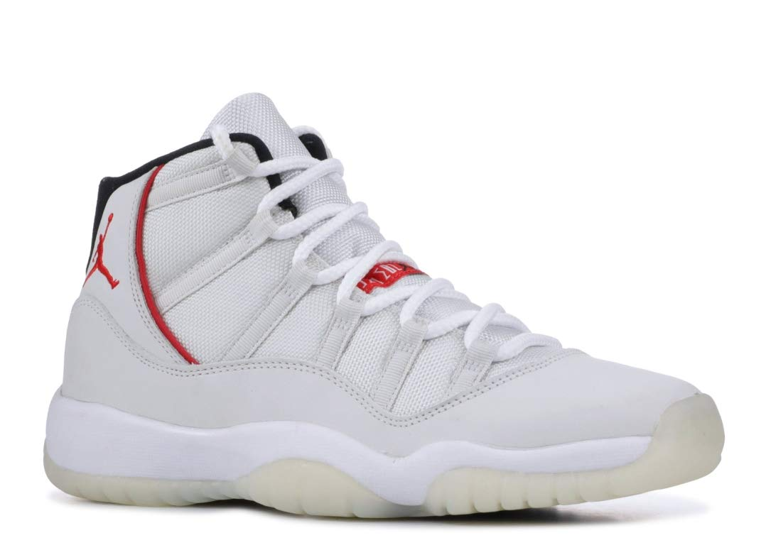 Jordan Kid's Air 11 Retro GS, Platinum Tint/SAIL-University RED, Youth Size 5