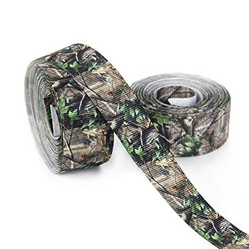 (Camo Grosgrain Ribbon Tape for DIY Handmade Hair Bow Materials Gift Packing Wrap Wedding Party Decorations (7/8'' Wide 20Yards))