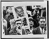 Photo: African American men,Black Muslim counter,NAACP rally,Harlem,Patrice Lumumba