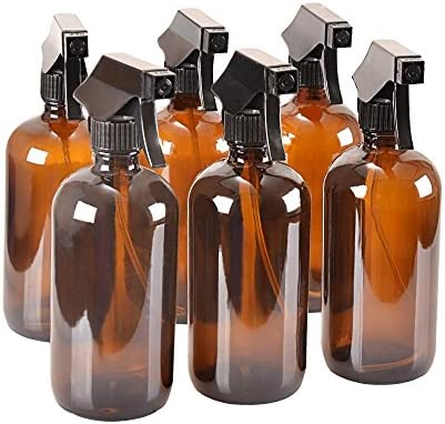 Amazon.com: 8 oz Spray Botellas de vidrio ámbar con ...