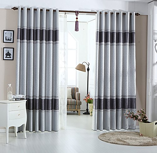 YouYee Beautiful Blackout Window Elegance Curtains/drapes/panels/treatments for Bedroom Living Room,Top Grommets (2 (Home Elegance Living Room)