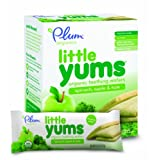 Plum Organics Little Yums Teething Wafers, Spinach Apple Kale, 3 Ounce