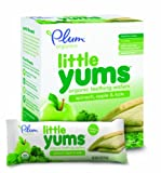 Little Yums, a line of baby teething wafers made with whole grain buckwheat and real fruit & veggies, is the perfect first snack for little teethers. The wafer easily dissolves, encourages self-feeding for teething babies, and is made wit...