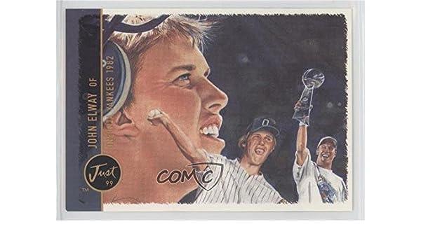 Amazoncom John Elway Baseball Card 1999 Just Minors Promos
