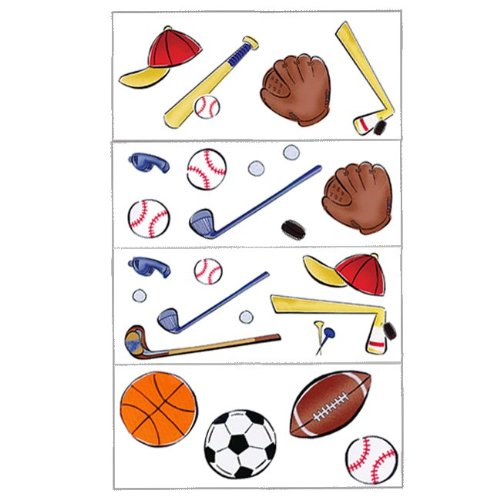 Borders Unlimited Lets Play Ball Appliques - 20 Stickers