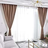 Simple Modern Finished Curtains Blackout Bedroom Bay Window Cloth Hook 2018 New Insulation Shade (Size : 1.5 * 2.7m)