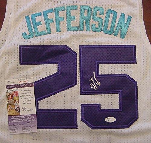 Al Jefferson Charlotte Hornets Autographed White #25 Jersey Size XL JSA COA