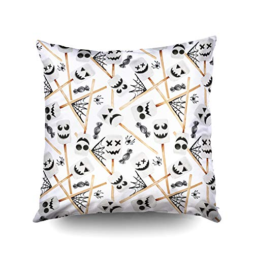 Bed Pillow Covers,Watercolor illustration of Halloween holiday season