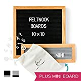 Felt Letter Board Message Set - TWO Changeable Letter Boards Including Mini Message Board - 346 Felt Board Letters