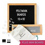Felt Letter Board Message Set - TWO Changeable Letter Boards Including Mini Message Board - 346 Felt Board Letters