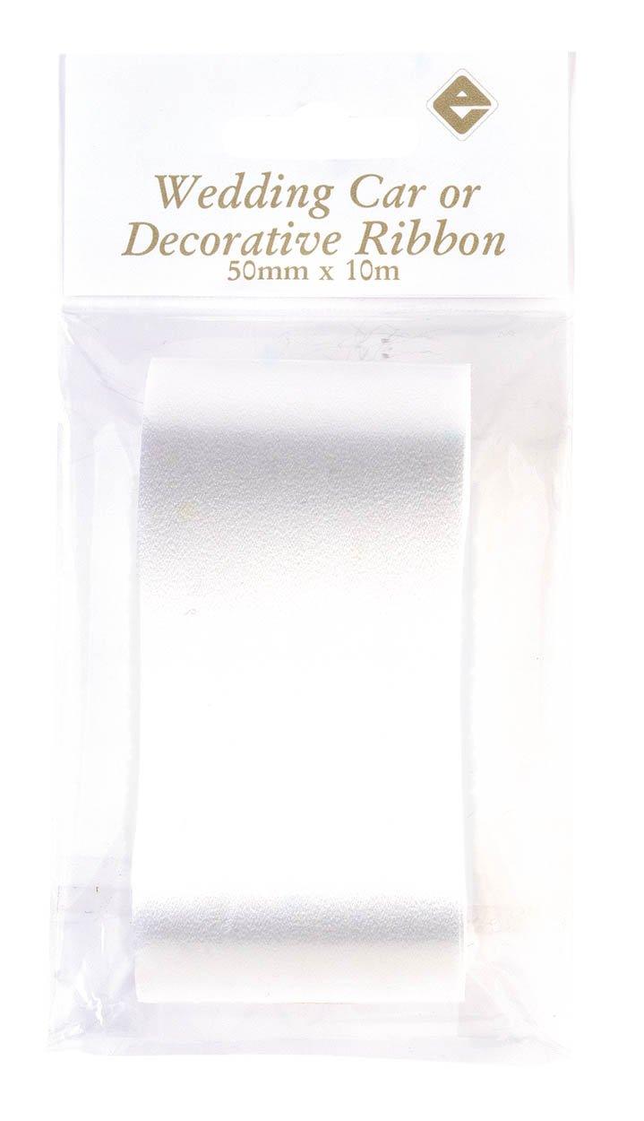 White Wedding Car Ribbon 50mm x 10m White Ribbon