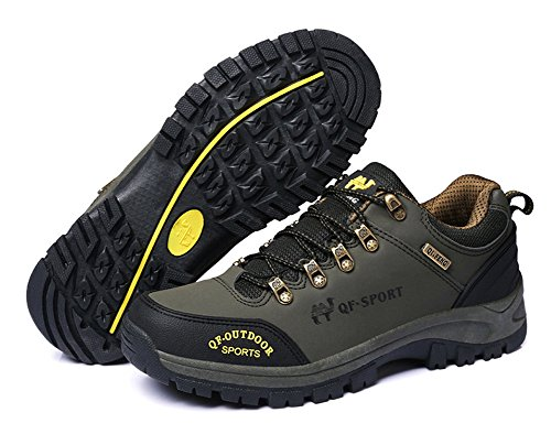Minetom Unisex Spring Summer Climbing Shoes Men Women Breathable Sport Walking Shoes Hunting Athletic Shoes Couple Outdoor Sneakers E Army Green YH1548rm