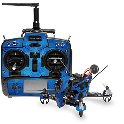 MightySkins Skin Compatible with Swagtron SwagDrone 210-UP - Blue Retro   Protective, Durable, and Unique Vinyl Decal wrap Cover   Easy to Apply, Remove, and Change Styles   Made in The USA