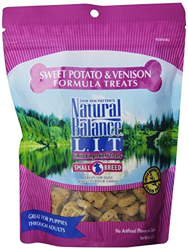 Natural Balance Limited Ingredient Dog Treats.Sweet Potato & Venison Formula(2Packs of 8oz)