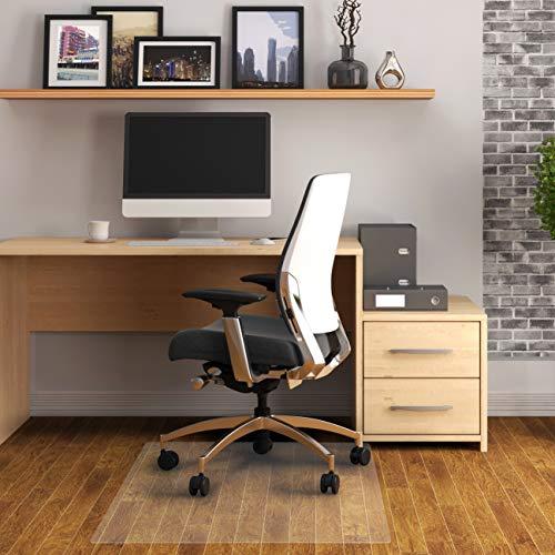 Cleartex Advantagemat, Phthalate Free PVC Rectangular Chair Mat for Hard Floor, Size 45