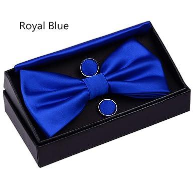 SULUO Conjunto de corbata de moño para hombre Corbatas de lazo de ...