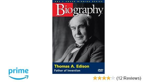 Amazon com: Biography - Thomas A  Edison: Father of