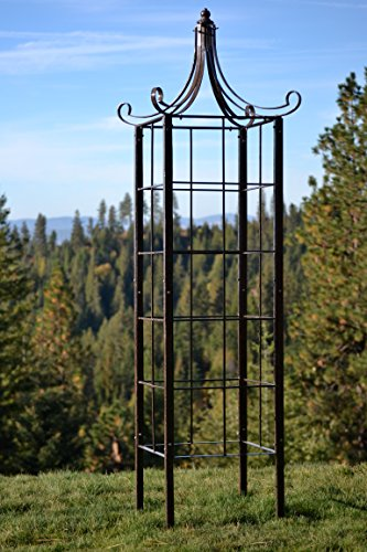 H Potter Trellis Wrought Iron Ornamental Large Garden Obelisk for Climbing - Easy Obelisk