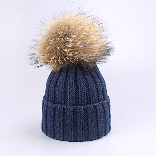 fc301bf84bf LA Moon s Skullies   Beanies - Warm Chunky Thick Hats and Scarves Real Fur  Pom Pom