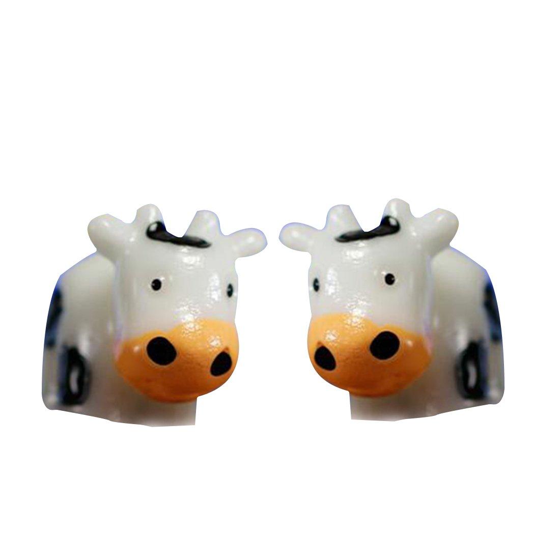 Miniatura vaca Animal decoración de Navidad DIY resina hada casa jardín decoración