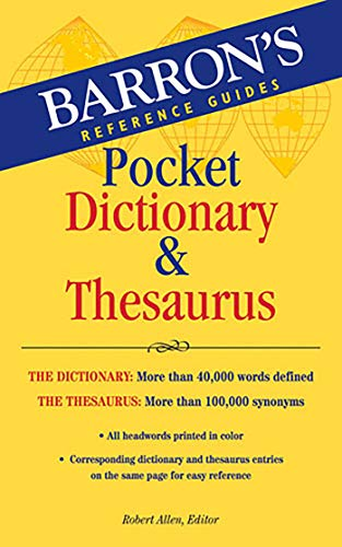 (Barron's Pocket Dictionary & Thesaurus)