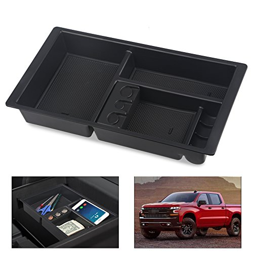 VANJING Center Console Insert Organizer Tray Replacement for 2014-2018 GM Vehicles Chevrolet Silverado GMC Sierra Tahoe Suburban Yukon Console Insert-Replaces 22817343(Full Console w/Bucket Seats Only ()