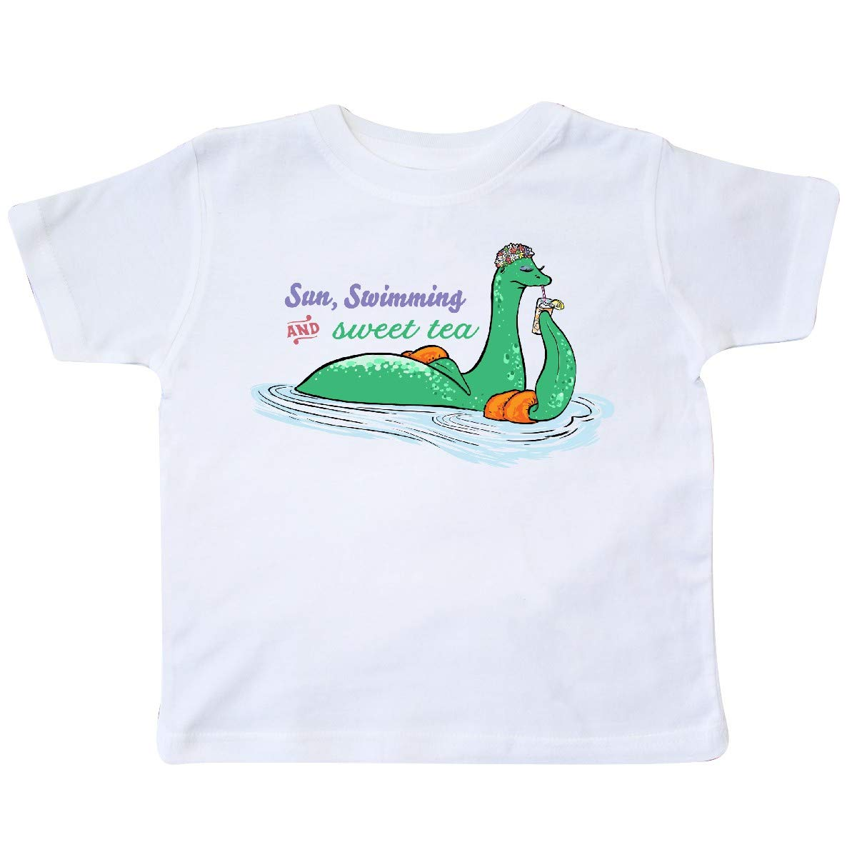 inktastic Loch Nessie Sun Swimming and Sweet Tea Toddler T-Shirt