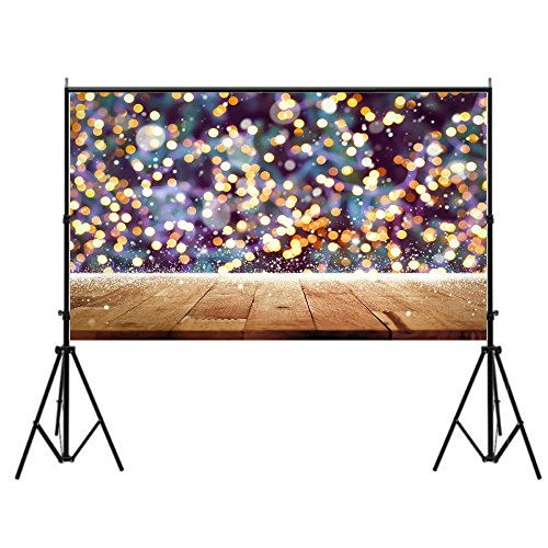 DODOING 7x5FT Photography Background Children Wood Wall Sparkle Glitter Bokeh Yellow Spots Shining Photography Backdrops for Photo Studio Props by DODOING (Image #2)