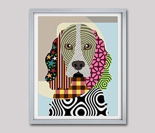 """Cocker Spaniel Dog Pop Art Giclée Pet Animal Print-8"""" x 10"""", 11"""" x 14"""" (UNFRAMED)"""