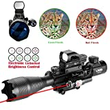 Best Tactical Rifle Scopes - Uuq 4-16x50 Tactical Rifle Scope Red/Green Illuminated Range Review