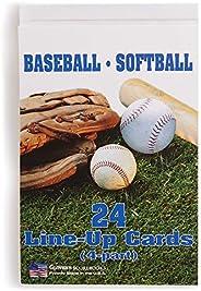 Glovers MCLINEUP Baseball/Softball Line-Up Card Booklet