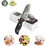 Gesentur Electric Knife Sharpener, Kitchen Knives Sharpening System, Sharpens Dull Knives Quickly, Safe and Easy to Use