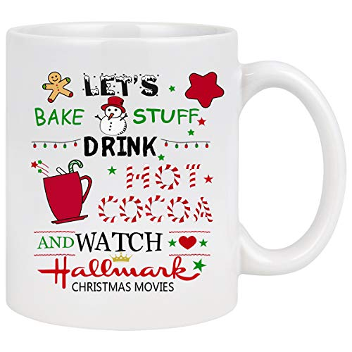Christmas Theme Coffee Mug Let's Bake Stuff Drink Hot...