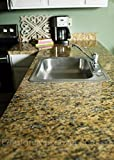 Kitchen Countertop Cover Faux Granite Instantly Update Venecia Gold Granite Counter Top Cover, 36