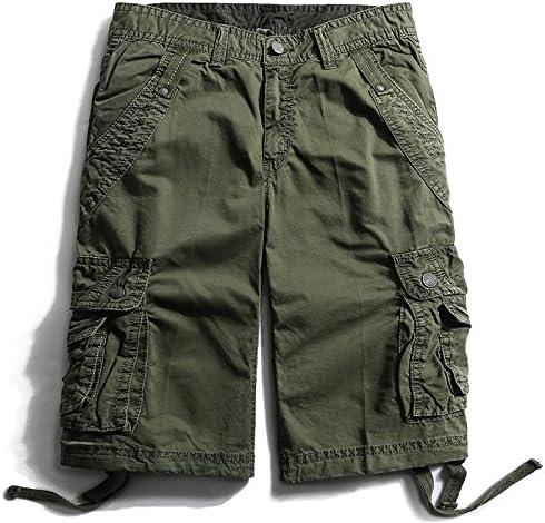 Summer Cotton Men/'s Casual Pants Baggy Shorts Pockets Cargo Short Pants Trousers