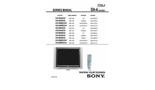 sony kv32hs510 kv34dcr510 kv34hs510 kv36hs510 kv38dcr510 service rh amazon com Owner's Manual Customer Service Books