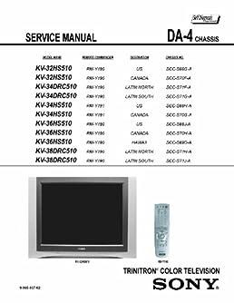 sony kv32hs510 kv34dcr510 kv34hs510 kv36hs510 kv38dcr510 service rh amazon com Parts Manual Customer Service Books