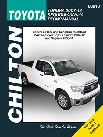 amazon com chilton 68610 tundra 07 12 sequoia 08 12 automotive rh amazon com