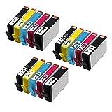 QINK 15 Pack (3BK 3PBK 3C 3M 3Y) 564 XL For 564XL Ink Cartridge For Photosmart PhotoSmart 7510 7520 7525 C6350 B8550 Printer