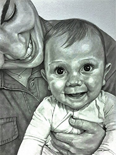 Baby and Mother custom portrait pencil drawing commission by Lynne Leavitt Portraits