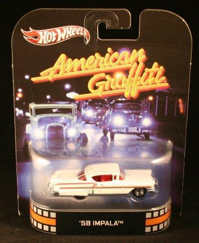 (Hot Wheels Retro American Graffiti 1:55 Die Cast Car '58 Impala)