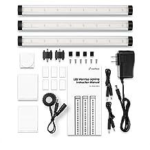 Zanflare LED Under Cabinet Lighting, Motion Sensor Closet/Kitchen Lights, Easy to Install, 3 Panel Kit, All Accessories Included, 12V LED Closet Light Fixtures, Under Counter Lights